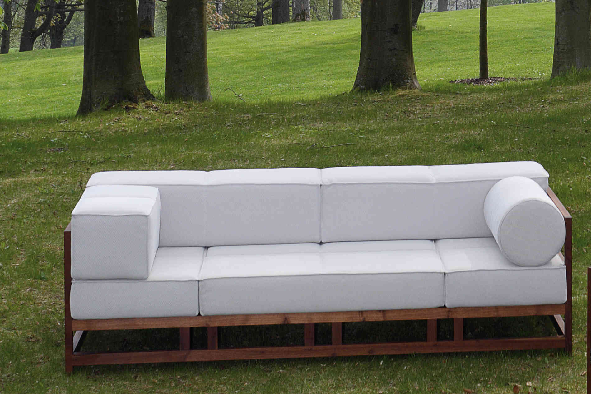 Sofa Bruehl Easy Pieces Natursofa Outdoorstoff Holzgestell.