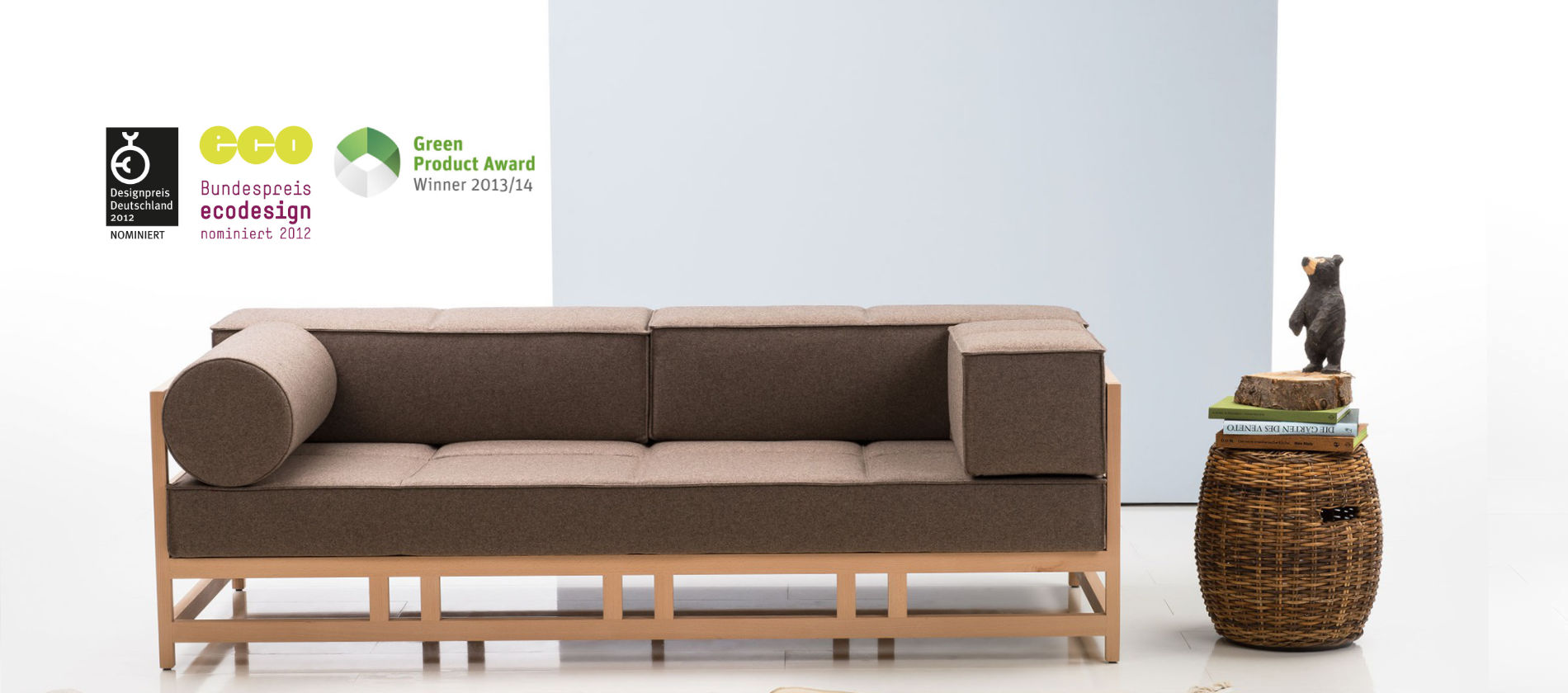 Sofa Bruehl Easy Pieces Oeko vegan Holzgestell