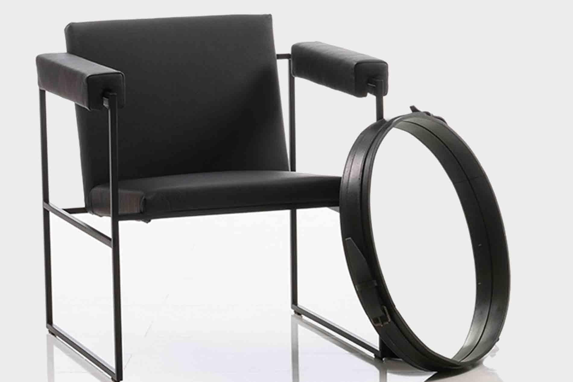 Sessel Grace von Brühl edler Sessel mit Metallrahmen