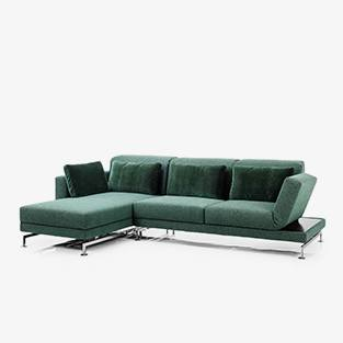 Ecksofa Moule medium small Brühl Funktionssofa Schlafsofa