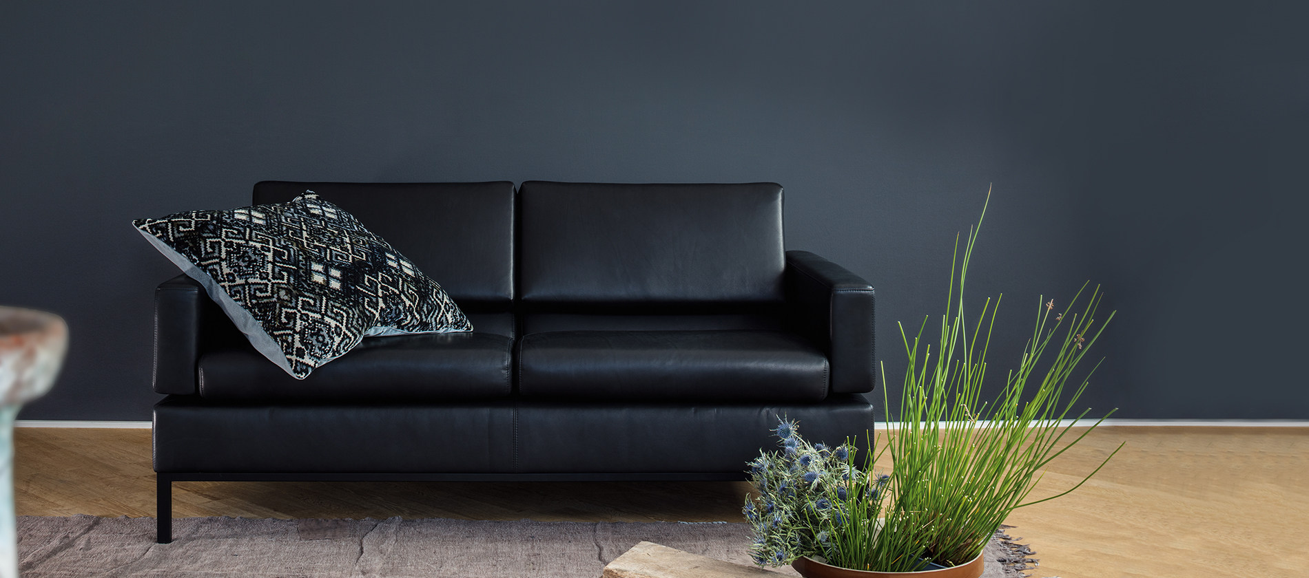 Brühl Sofa Sessel Hocker Leder Tomo