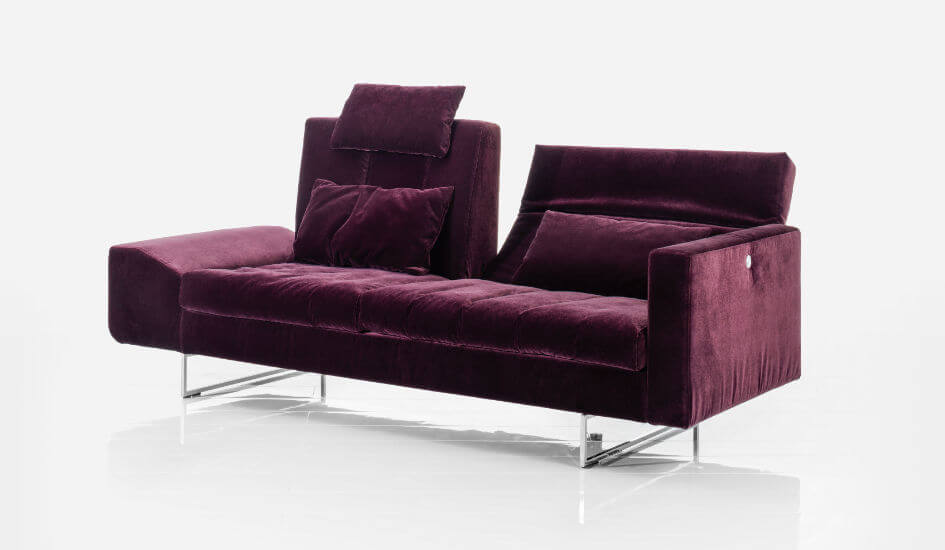Bruehl Sofa Embrace Velour Metallkufen