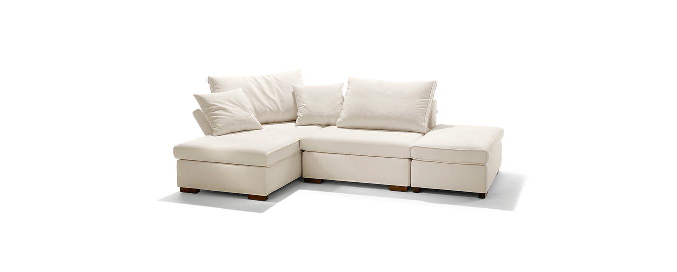 Schlafsofa flint von signet auch als sofa und sessel for Schlafsofa ohne armlehne