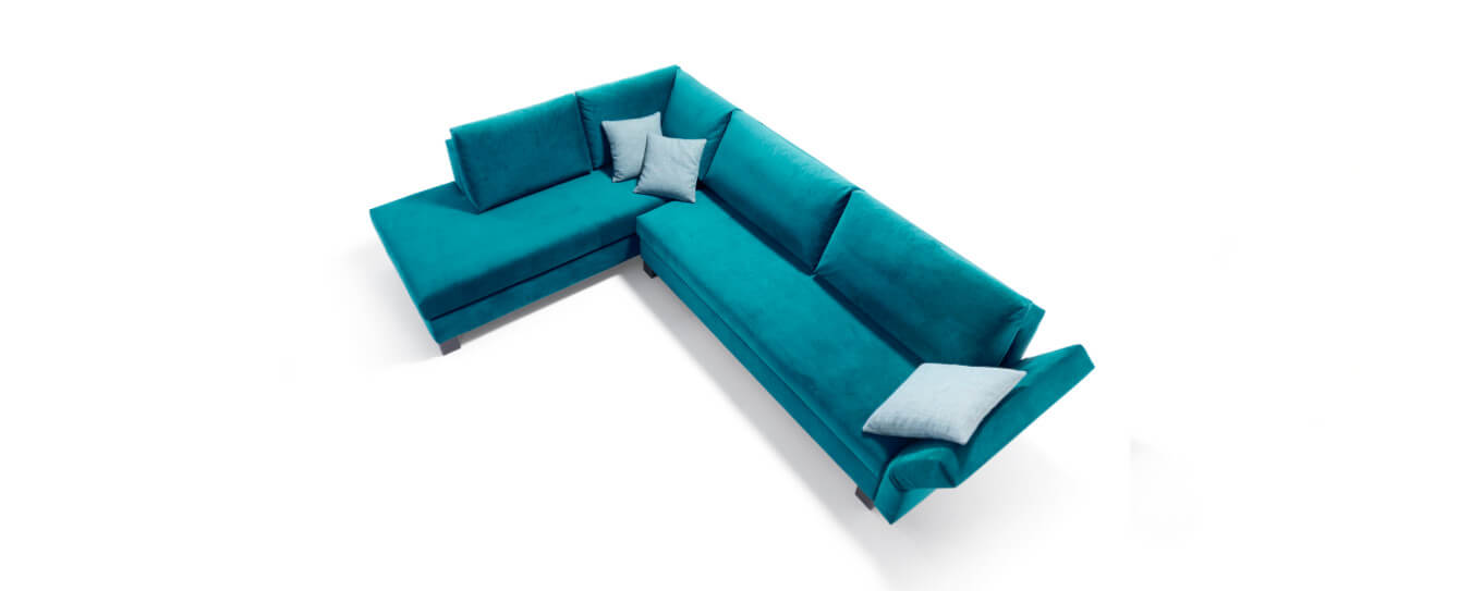 Ecksofa Good Life Schlafsofa Open End Velour