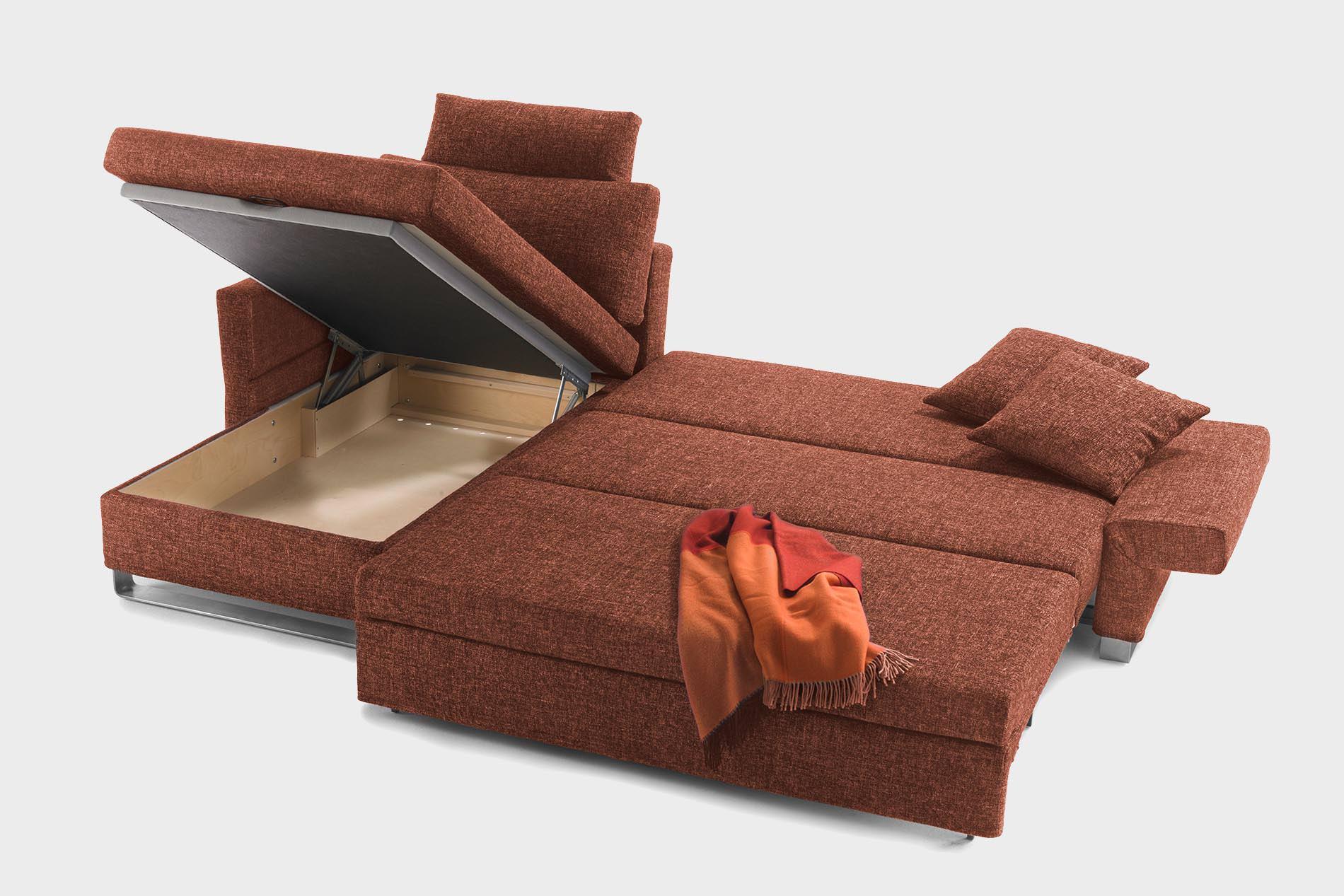 eck schlafsofas mit bettkasten amazing stylisches design schlafsofa orlando grauschwarz. Black Bedroom Furniture Sets. Home Design Ideas