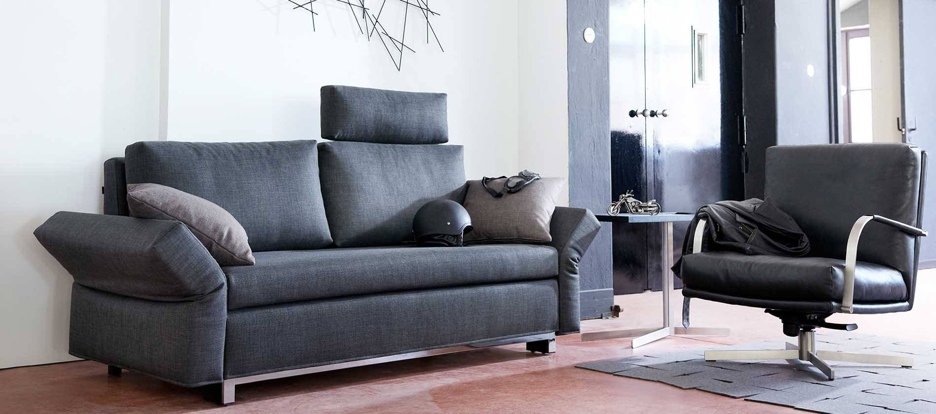 schlafsofa mex von signet schlafsofa mit viel komfort. Black Bedroom Furniture Sets. Home Design Ideas