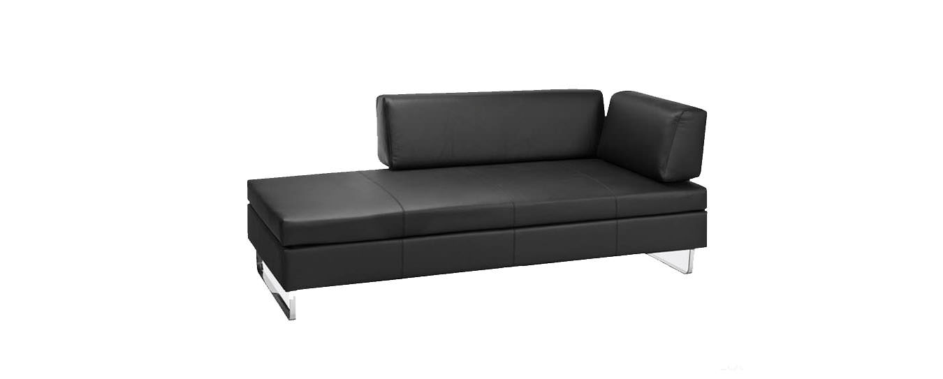 leder schlafsofa finest studioliege enea in wei with. Black Bedroom Furniture Sets. Home Design Ideas