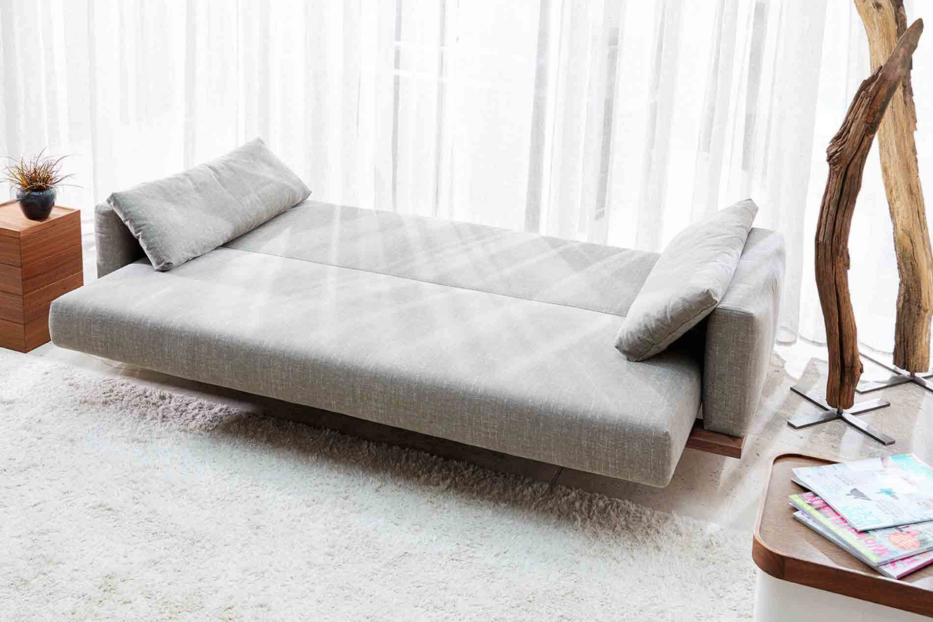 Design Schlafsofas schlafsofa pio signet kippcouch zum schlafen im kantigen design
